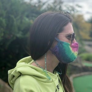 Blue and Green Face Mask Chain for adults